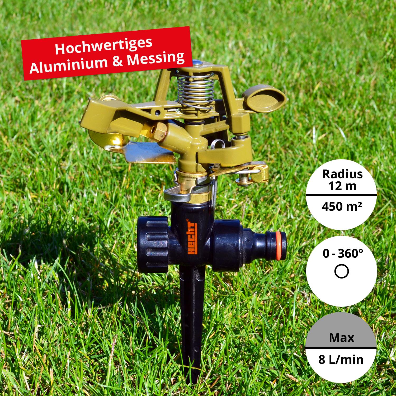 450 M² IMPULSREGNER KREISREGNER RASENSPRENGER RASEN SPRENGER SRINKLER ERDSPIEß