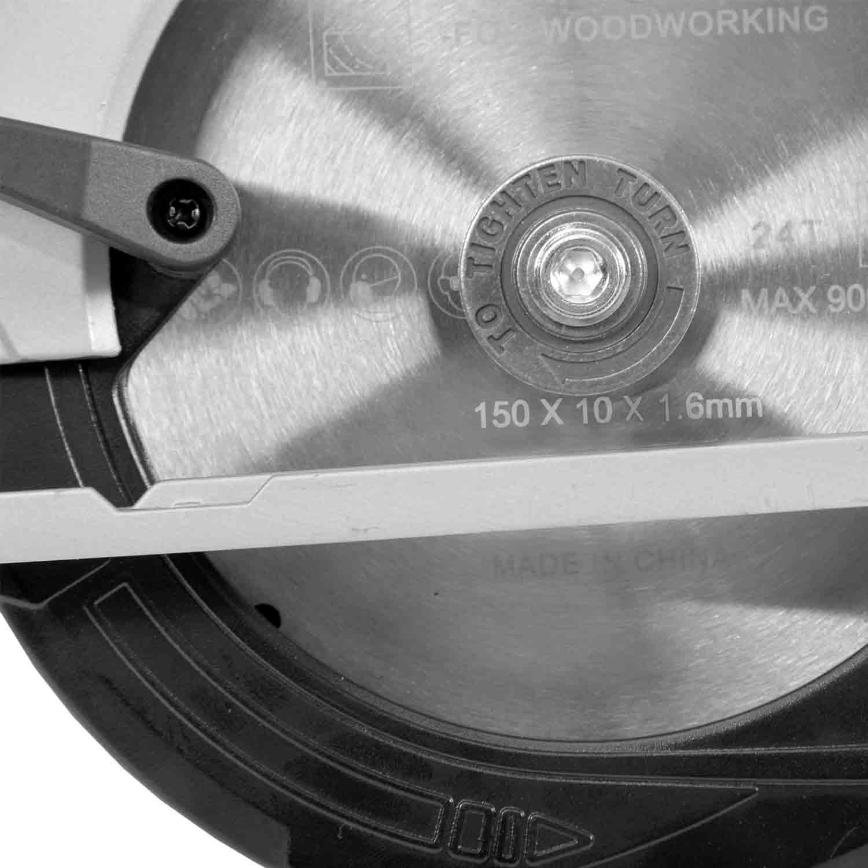Hecht 1670 Akku Handkreissäge Kreissäge 150 mm HM Sägeblatt Schnitlinienlaser