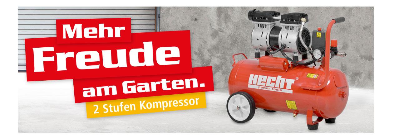Hecht 2080 Flüster Kompressor Luftkompressor Druckluft Leise Silent 24l Kessel