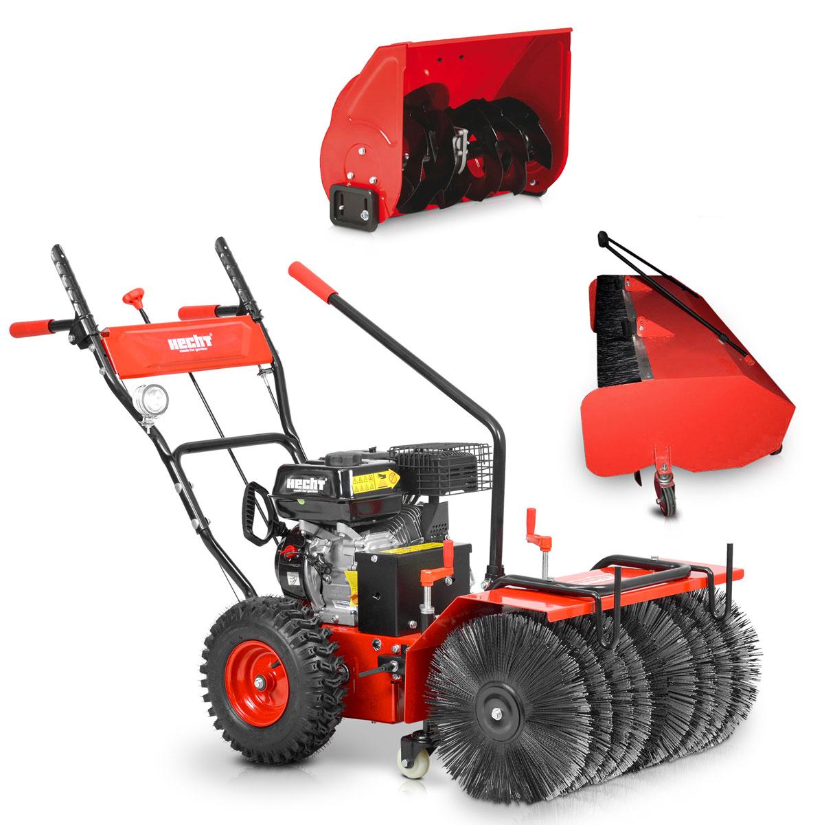 hecht 8616 se kehrmaschine kombi gerät schneefräse motorbesen mit