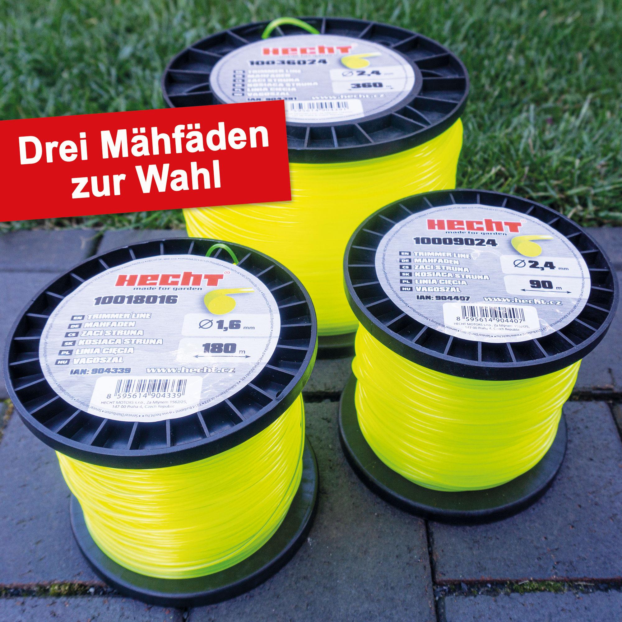 1,6//2,4//3,0mm Nylonfaden Mähfaden Trimmerfaden für Motorsense Freischneider