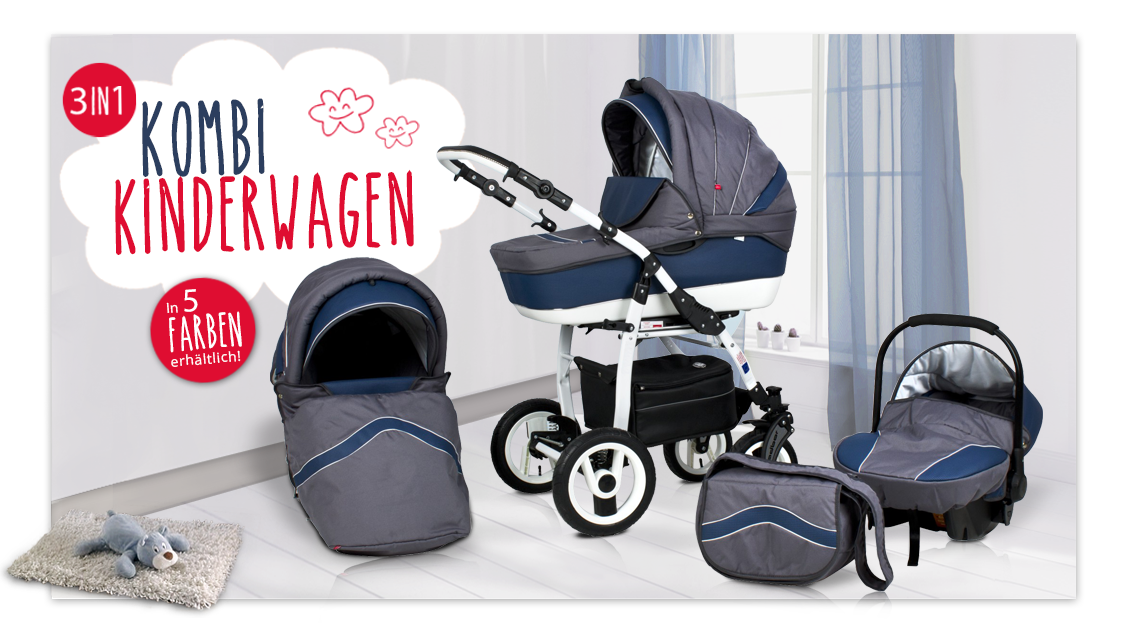 kinderwagen kombi kinderwagen 3 in 1 schwenkr der vorne. Black Bedroom Furniture Sets. Home Design Ideas