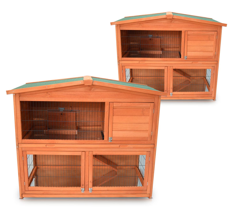 hasenhaus in 2 größen kaninchenstall hasenstall hasenkäfig stall