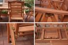 Sitzgruppe Gartenmöbel Hecht Prague Set Detailansichten