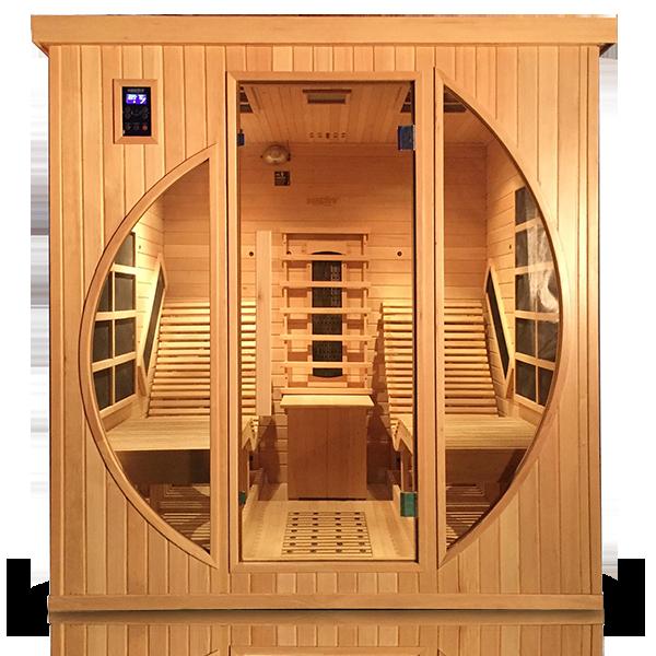 moderne infrarotsauna mit zwei ergonomisch geformten liegen i 14 heizstrahler i entspannung pur. Black Bedroom Furniture Sets. Home Design Ideas
