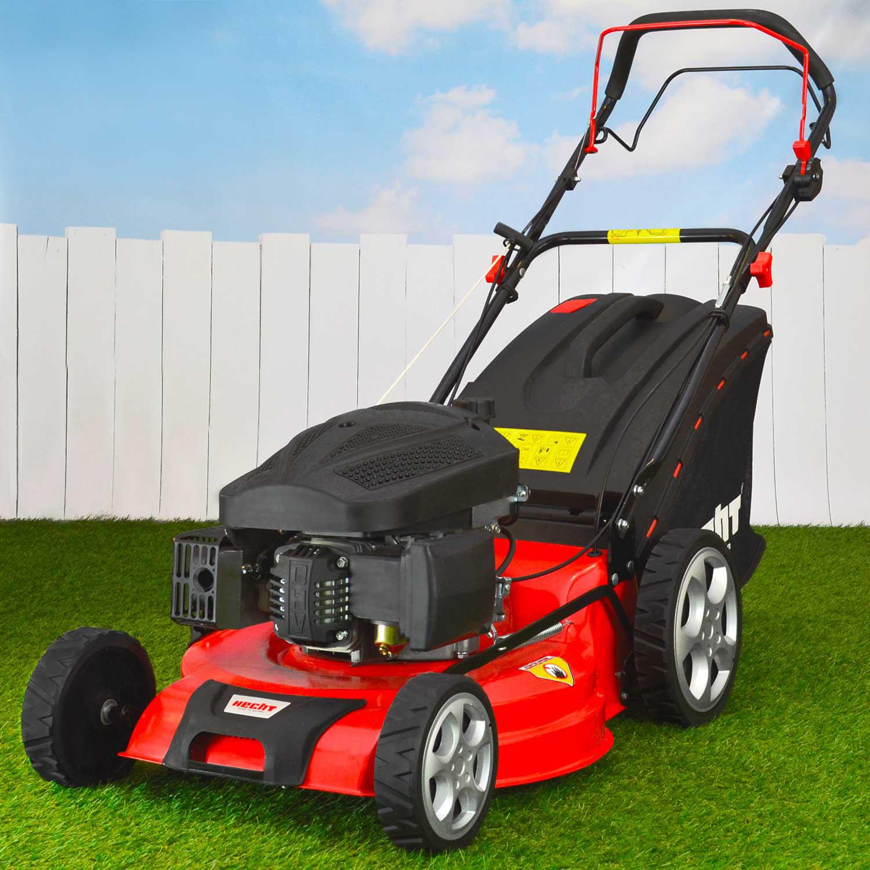 hecht 551 benzin rasenm her mit mulch funktion und. Black Bedroom Furniture Sets. Home Design Ideas
