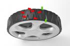 HEcht 551 SB Briggs & Stratton patentierte Räder mit super Grip