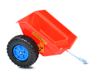 Hecht 51413 Trettraktor Kindertraktor Kindertrecker Kinder Bagger Muldenkipper Frondkipper Frontlader Anhänger 3-6 Jahre