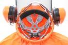 Hecht 900100 Forstschutzhelm orange Helm Schutzhelm Forsthelm